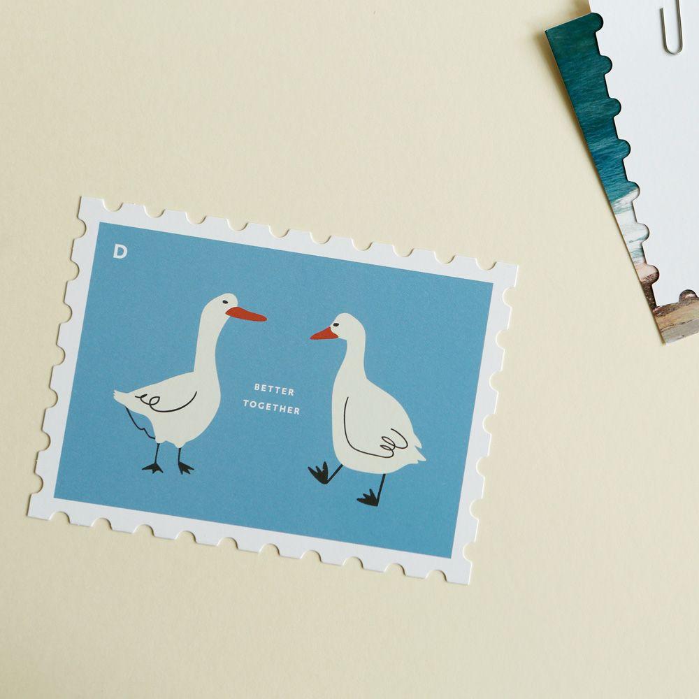 Dailylike 郵票 卡片信封組~11 一起