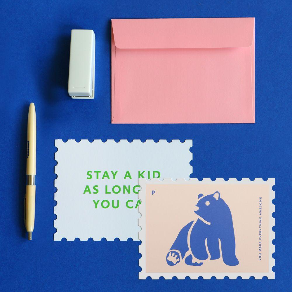 Dailylike 郵票 卡片信封組~14 你最棒
