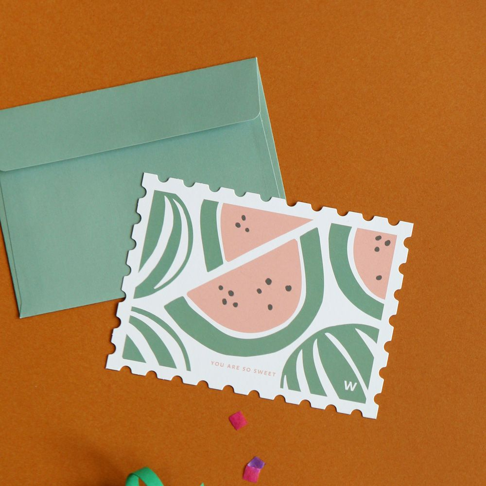 Dailylike 郵票 卡片信封組~16 你好甜