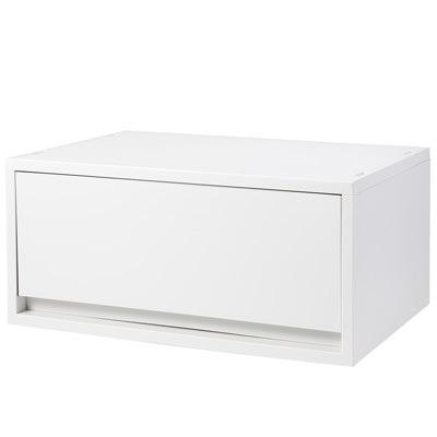 [MUJI無印良品]PP資料盒/橫式/深型/白灰