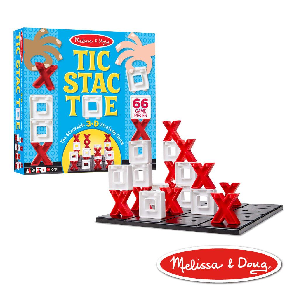 美國瑪莉莎 Melissa & Doug 遊戲 - 3D 戰略桌遊,圈圈疊叉叉 ooxx