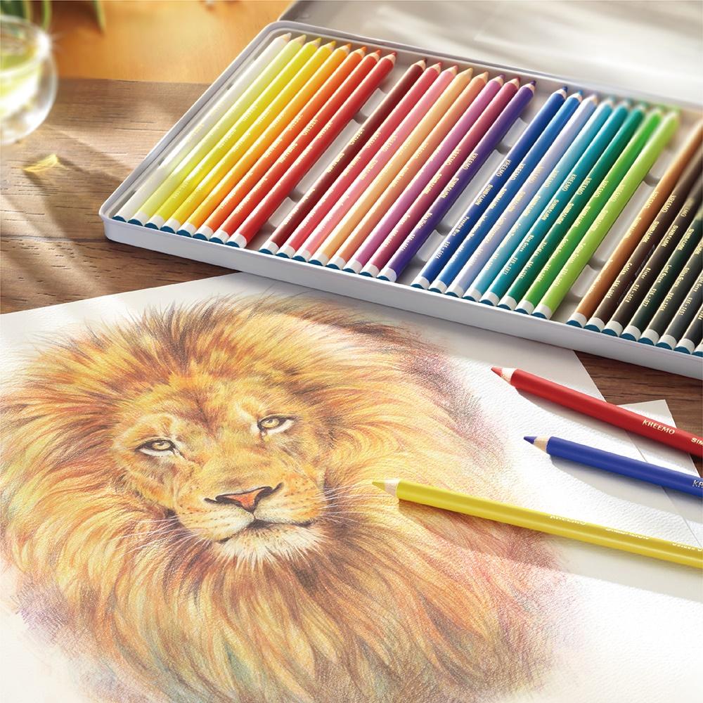 【雄獅】KREEMO專業油性彩色鉛筆鐵盒裝-36色