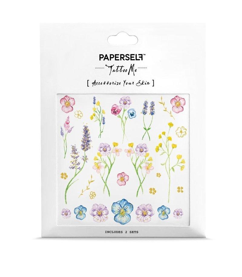 ::PAPERSELF刺青貼紙::植花室 Little garden|2入