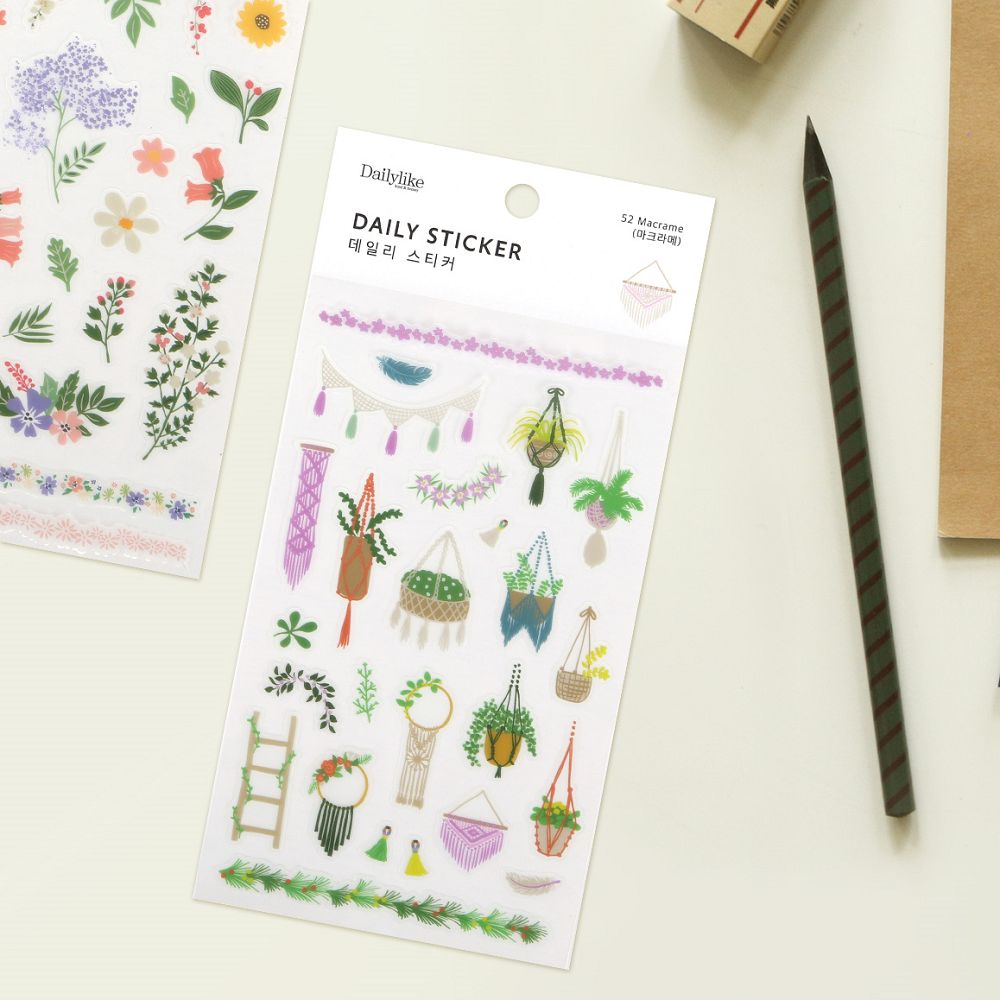 Dailylike 日日美好裝飾透明貼紙 ~52美好盆栽