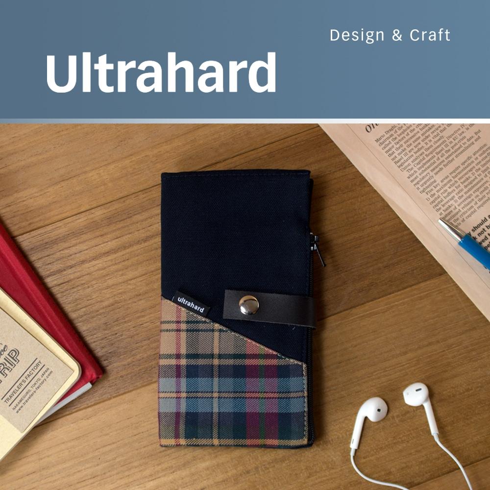 Ultrahard 拼接格紋信箋筆袋