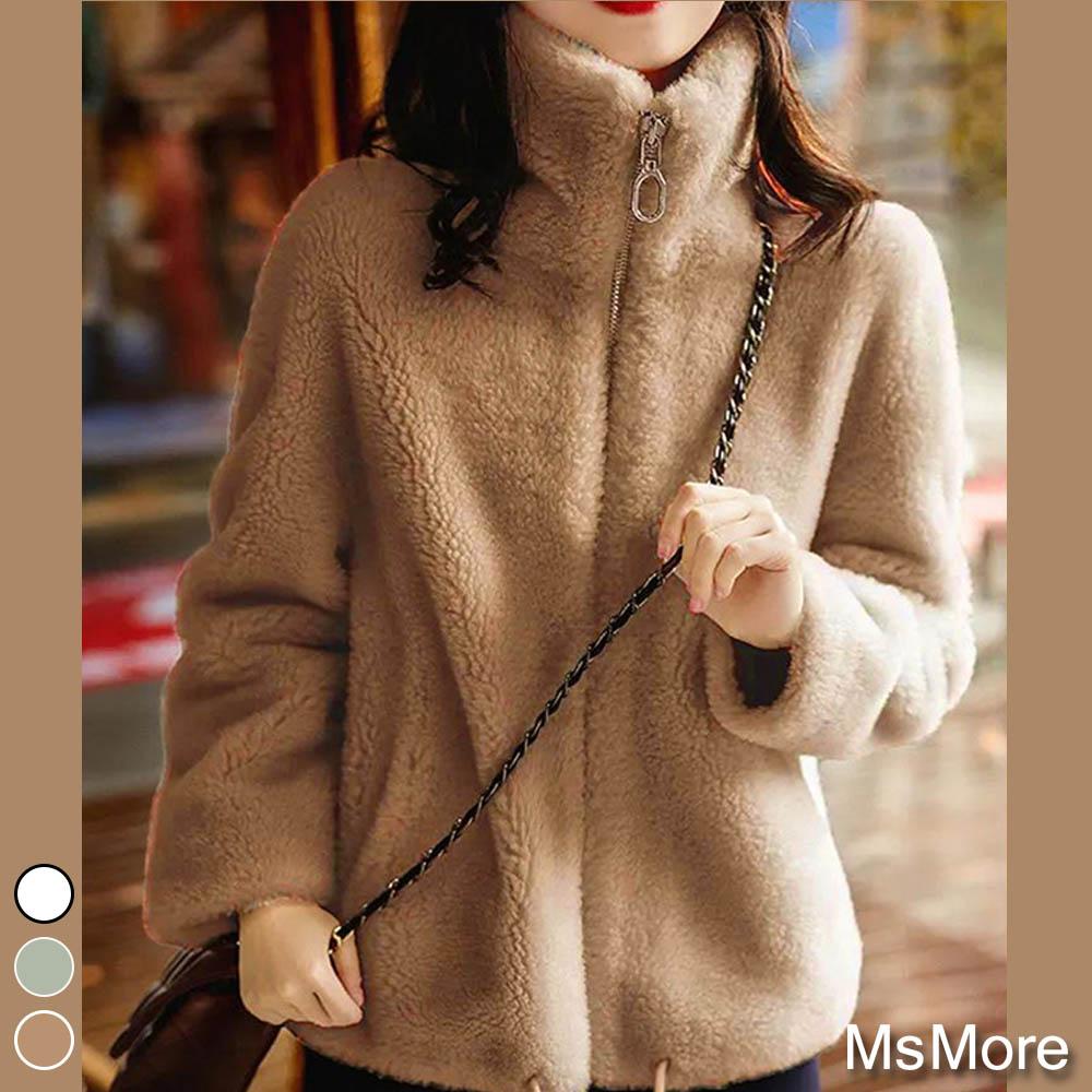 【MsMore】溫暖羊羔絨百搭氣質外套