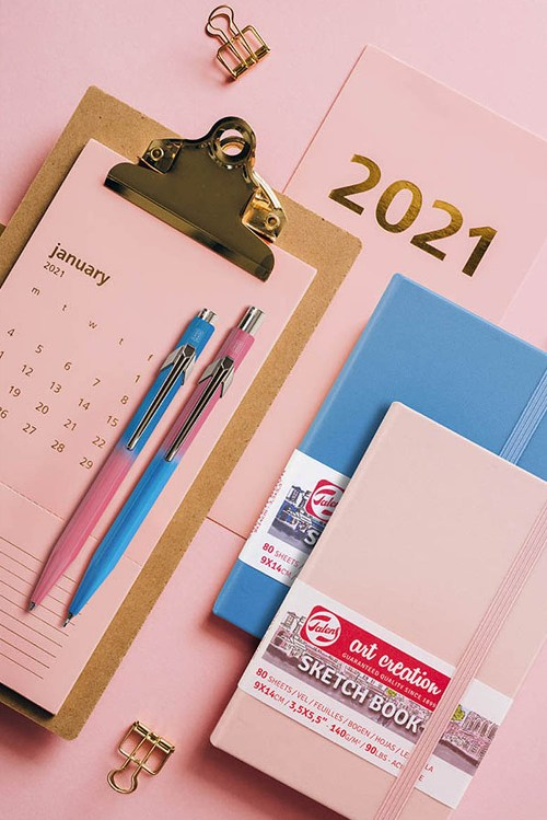 【CDA 瑞士卡達】2021亞洲限定版對筆加贈Talens速寫本
