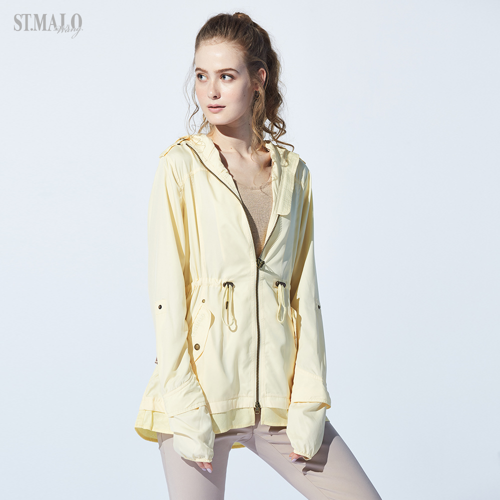 【ST.MALO】輕量長版防曬防蚊UPF50+緹花外套