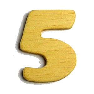 數字(木質素材)-5