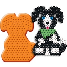 《Perler拼拼豆豆》模型板-站立小狗板