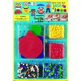 《Perler拼拼豆豆》拼豆樂園2000顆-公仔的珍愛收藏 (小方板、小星板、小圓板、男孩板)