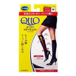 Qtto全新-日本Scholl緊緻修飾機能襪 M(黑色小腿襪)