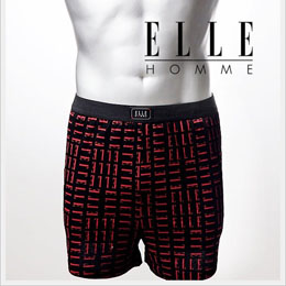 ELLE HOMME 時尚個性LOGO圖案平口褲《3件組》黑色_XL