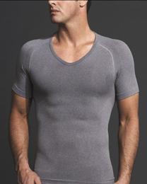 EQUMEN精緻型男塑身衣:短袖【灰色】XL 號