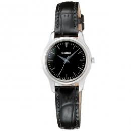SEIKO 爵士風采超薄腕錶(黑)