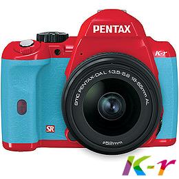 PENTAX K-r+18-55L紅色單鏡組+水藍色握把(公司貨)+Alice相機包+遙控器+8G+原電