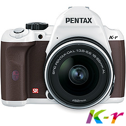 PENTAX K-r+18-55L白色單鏡組+咖啡色握把(公司貨)+Alice相機包+遙控器+8G+原電