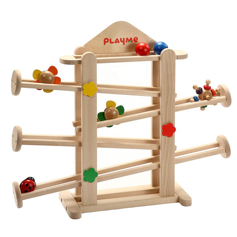 PlayMe:) 轉轉花園-可愛小花滾球玩具