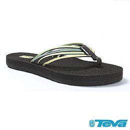 TEVA 女 舒適沙灘夾腳鞋(森林綠)-06
