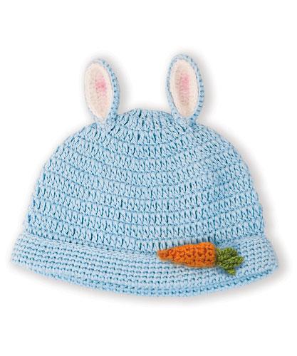 美國Bunnies By The Bay海灣兔,藍蘿蔔編織帽,Bunny Beanie-Blue!