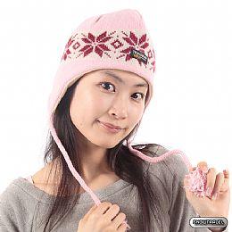 SNOWTRAVEL 3M遮耳防風透氣保暖羊毛帽(粉紅)