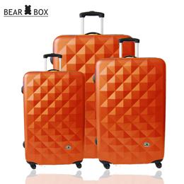 Bear Box《晶鑽系列》ABS 霧面★輕硬殼旅行箱【超值3件組】橘