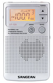 SANGEAN 二波段DT-125數位式口袋型收音機 銀