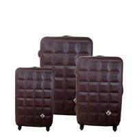 Miyoko《趣味巧克力系列》ABS 霧面旅行箱★輕硬殼旅行箱【3件組】咖啡巧克力