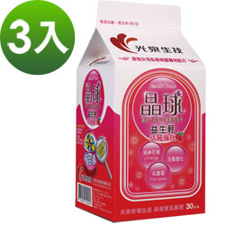 《光泉生技》晶球益生輕乳酸菌 升級版 –蔓越莓 3盒 (每包3克 30包/盒)