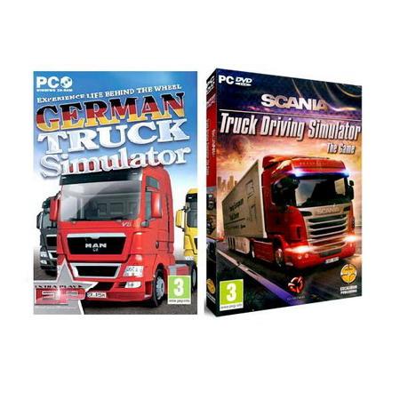 【模擬卡車 暢銷組】★ 德國卡車 + 斯坎尼亞卡車 ★ German Truck Simulator +SCANIA Truck Driving Simulator [英文版PC-GAME]
