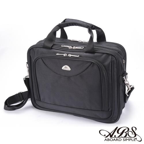 ABS愛貝斯 經典風尚 可擴充容量 商務15吋筆電公事包 (典雅黑) 02-029
