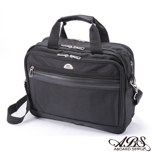 ABS愛貝斯 輕量簡約 可擴充容量 多格層15吋筆電商務公事包 (典雅黑) 02-030