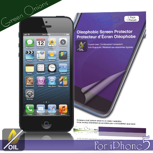 美國Green Onions Oleophobic Apple iPhone5 抗油水保護