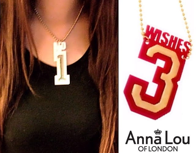 ~Anna Lou OF LONDON~倫敦品牌 3 WISHES桃紅立體幸運數字項鍊