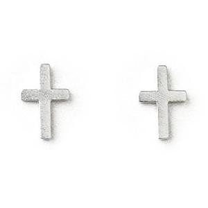 Dogeared  十字架 Simple Cross 銀色耳環 附 盒