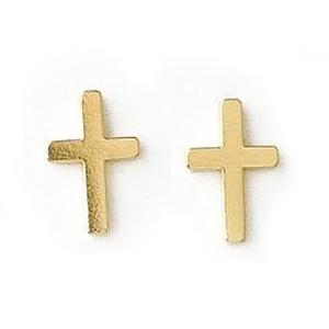 Dogeared  十字架 Simple Cross 金色耳環 附 盒