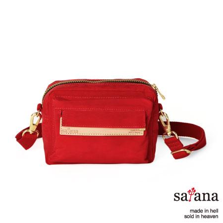 satana - 隨行斜肩包/腰包 - 中國紅