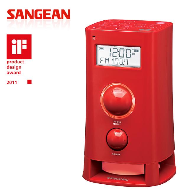 山進收音機SANGEAN-二波段數位式造型收音機(調頻立體/調幅)K-200紅色