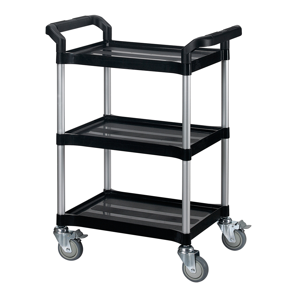 【nicegoods 好東西】小型三層餐廚整備工作推車黑