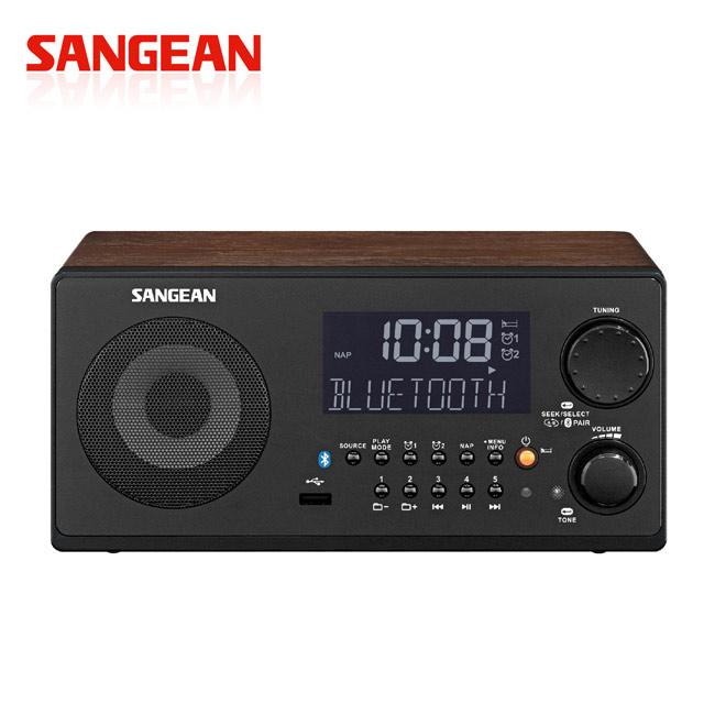 山進收音機SANGEAN-藍芽/USB數位收音機.數位音響(WR-22)胡桃色胡桃色