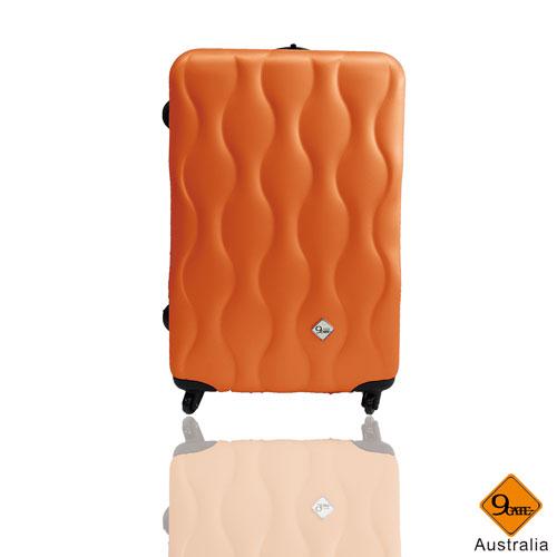 Gate9波西米亞系列▷ABS霧面旅行箱行李箱拉桿箱登機箱(24吋) 24吋橘色