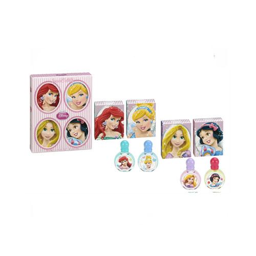 Disney Princess 童話公主嘉年華小香水禮盒4入組II (白雪公主7ml/仙度瑞拉7ml/魔髮樂佩7ml/愛麗兒7ml)