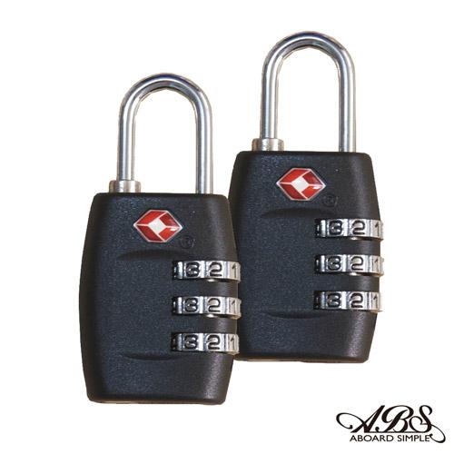 ABS愛貝斯 美國認可TSA國際海關鎖兩入組 (典雅黑) 99-018