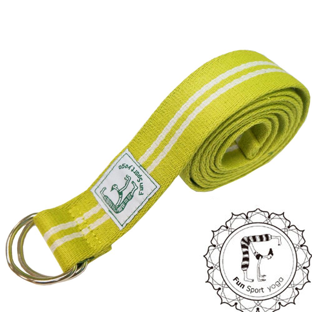 Funsport 力樂美棉織伸展帶 鐵扣環  1入鮮活綠