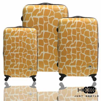 行李箱|28+24+20吋【JUST BEETLE】動物樂園系列*長頸鹿紋ABS輕硬殼旅行箱三件組其他金黃色