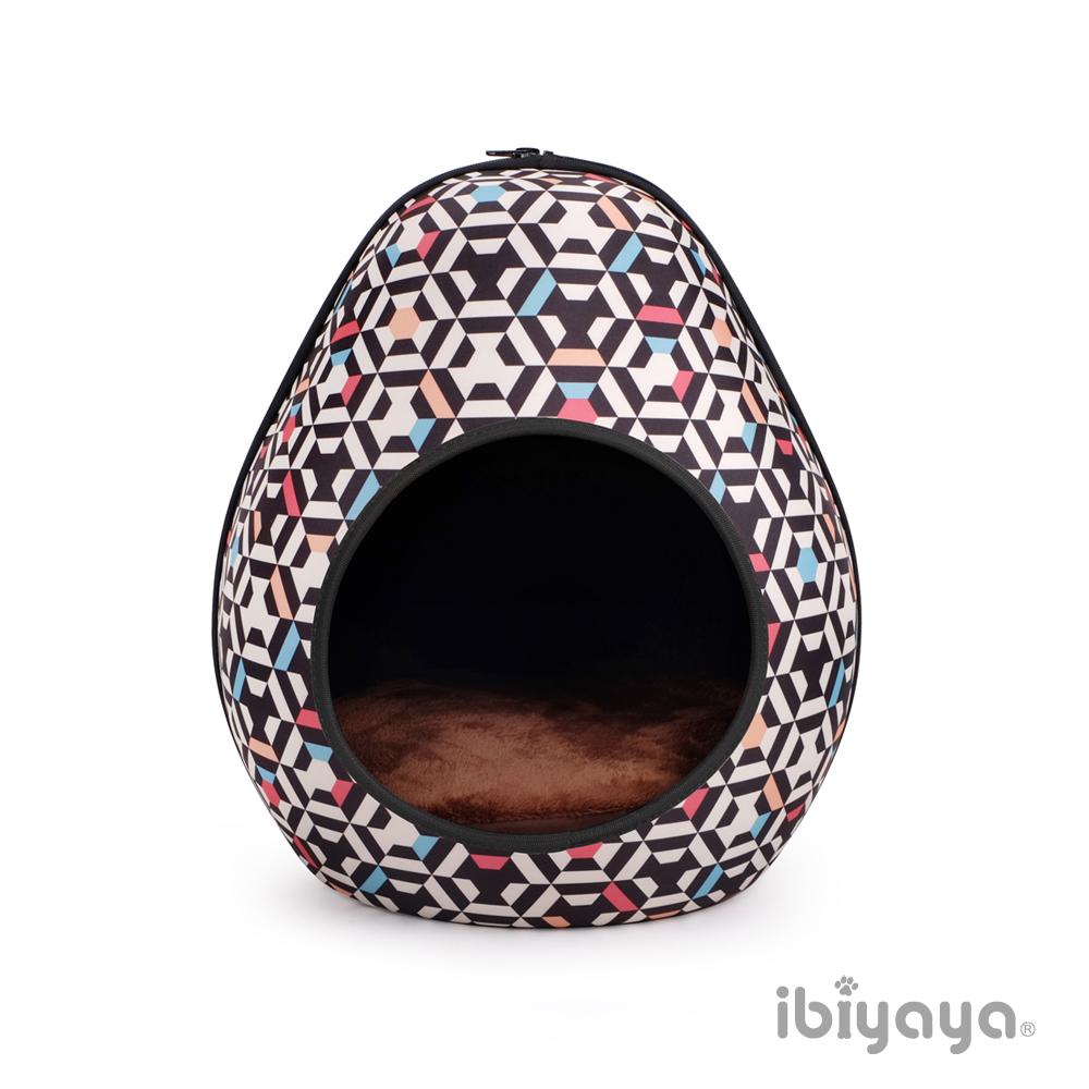 【IBIYAYA依比呀呀】FB1412摩登恐龍蛋寵物窩幾何黑