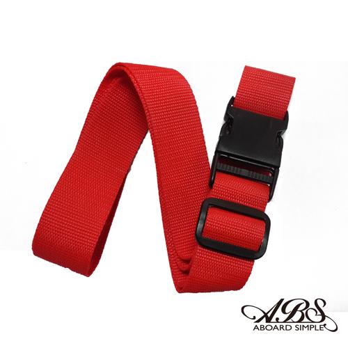 ABS愛貝斯 台灣製造繽紛旅行箱束帶 (亮紅) B2