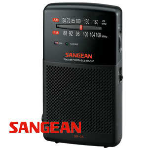 山進收音機SANGEAN-二波段掌上型收音機(FM/AM)SR-35