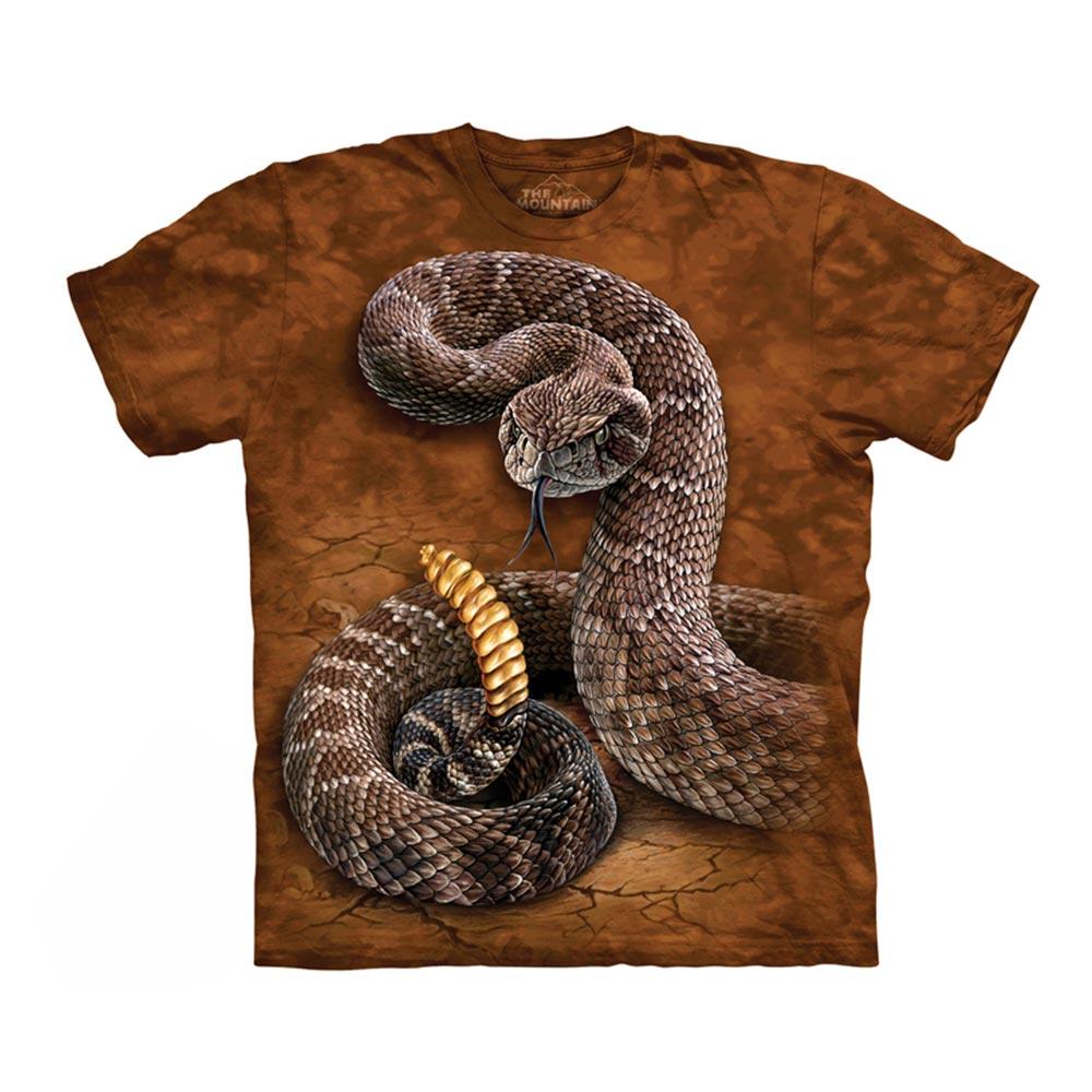 【摩達客】美國進口The Mountain 響尾蛇 純棉環保短袖T恤[現貨+預購]S青少年版