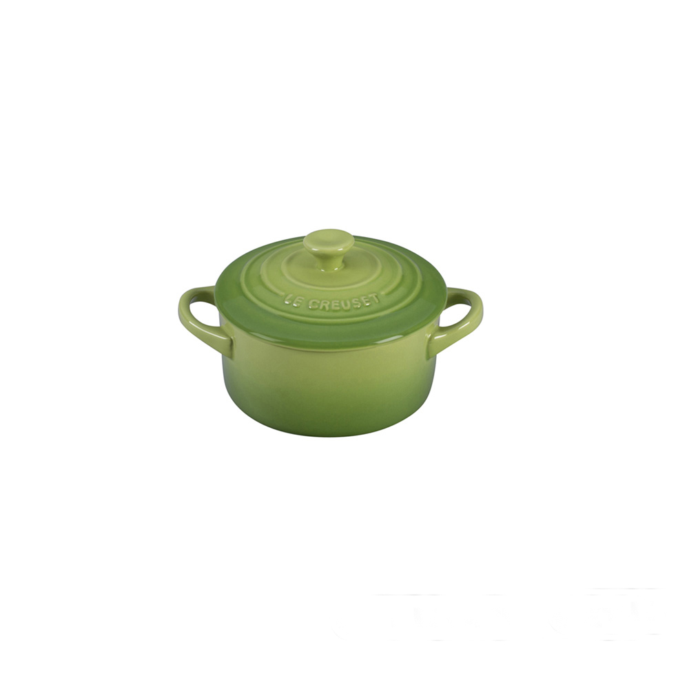LE CREUSET-迷你圓形瓷器鍋(奇異果綠.直徑13.5cm)
